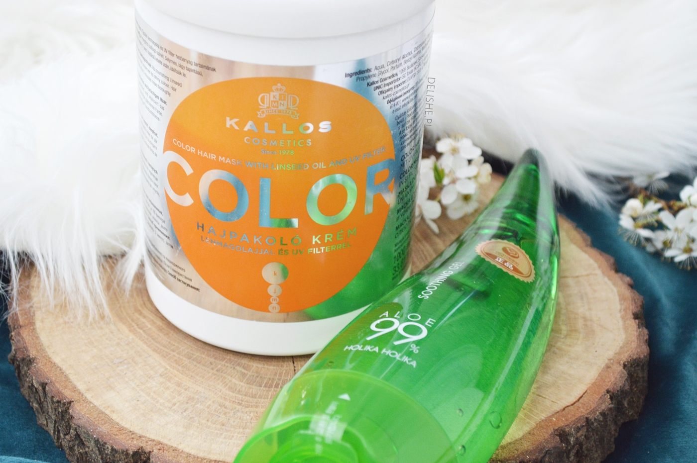 maska do emulgowania oleju kallos color i żel aloesowy