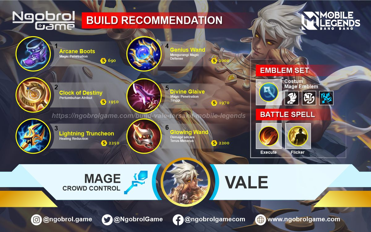 Build Vale Top Global Tersakit Mobile Legends