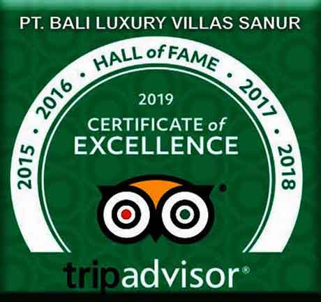 Recipient of Tripadvisor's Hall of Fame award