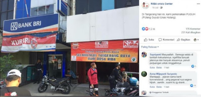 Viral! Foto Badan Anti Riba Buka Kantor Persis di Sebelah Bank