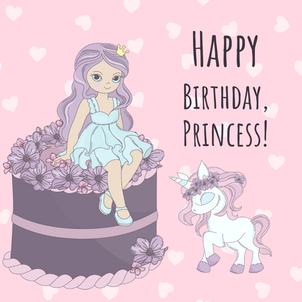 Happy Birthday  Princess!  Messages of Pure Love