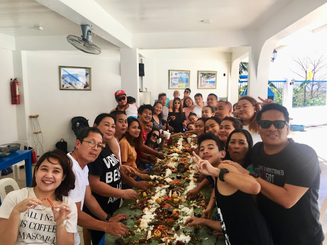 Boodle Fight Lunch at Alysa Private Resort