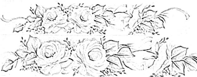pintura em tecido flores risco para toalha de banho