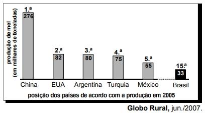 ENEM 2007: É título adequado para a matéria jornalística em que o gráfico acima seja apresentado