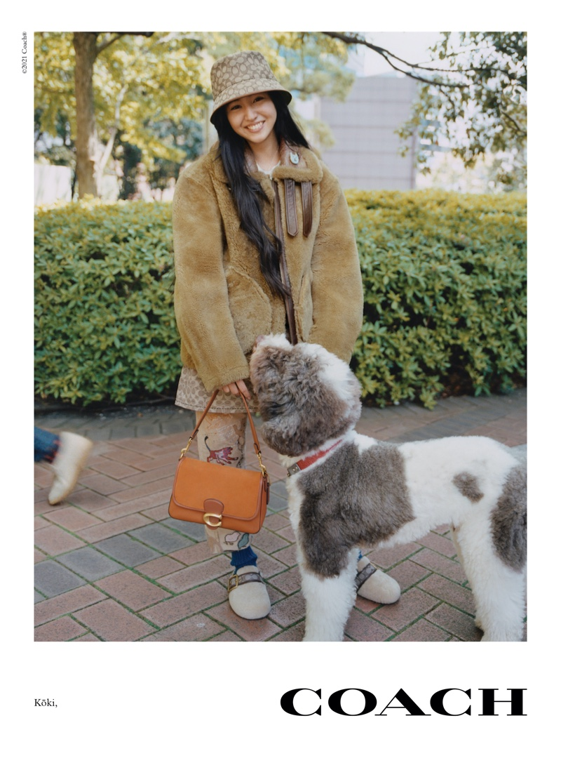 Kōki poses for Coach fall 2021 campaign