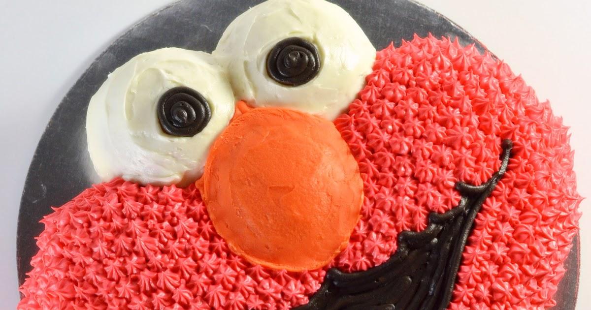 I Heart Baking Elmo Cake