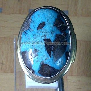 Cincin Batu Permata Pirus Persia - ZP 812