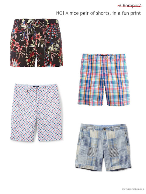 four pairs of shorts for Summer 2017