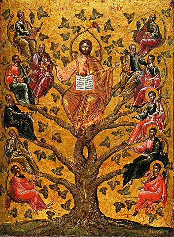 Christ the True Vine, simbolis pohon