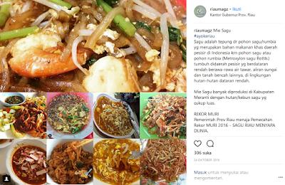 mie sagu Top Kuliner Riau Paling Populer