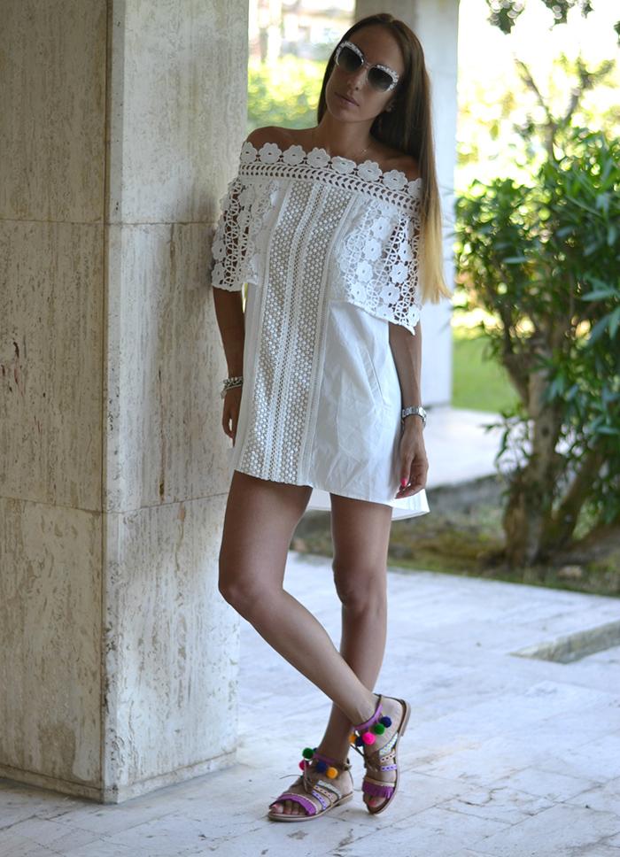 abito bianco dezzal
