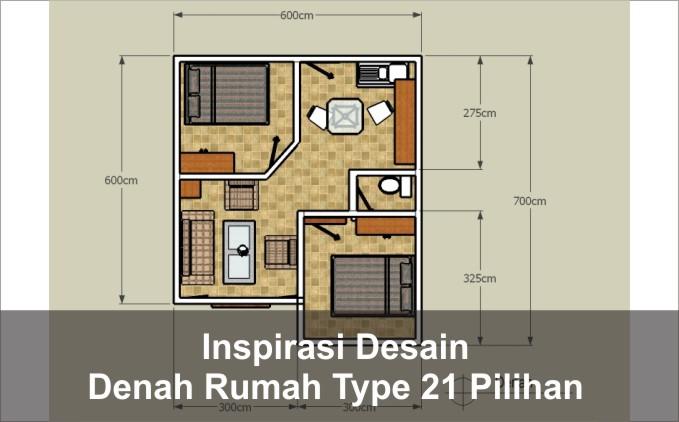 denah rumah type 21