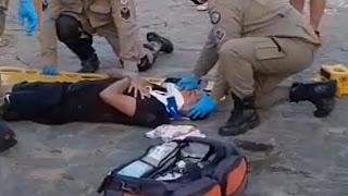 Jovem sofre acidente de moto enquanto pilotava moto em praça de Guarabira