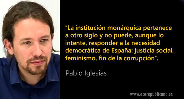 """Pablo Iglesias: """"La monarquía no puede responder a la necesidad democrática de España"""""""