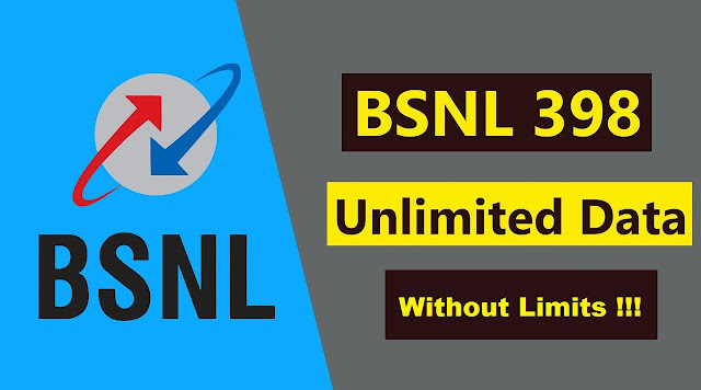 BSNL Truly Unlimited Offer STV ₹398, best suited for online classes and work from home gets regularized with immediate effect