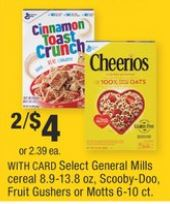 General Mills Cocoa Puffs Cereal cvs deal