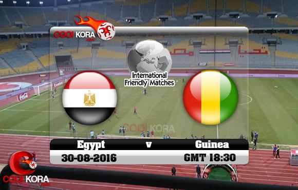 مشاهدة مباراة مصر وغينيا اليوم 30-8-2016 مباراة ودية