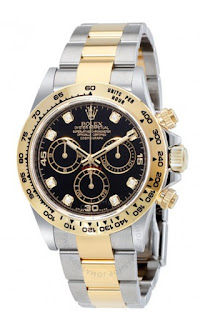 Pajak Rolex ( Pawn Rolex Cosmograph Daytona Black Diamond Dial Steel and 18K Yellow Gold ) RM 35,000