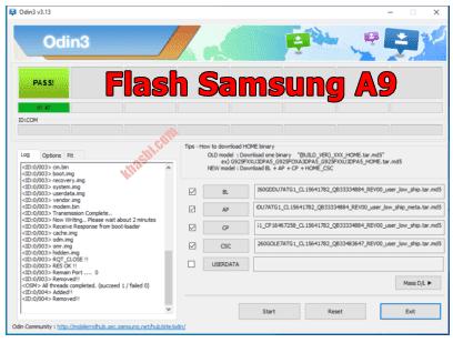 Menambahkan file binary Samsung A9
