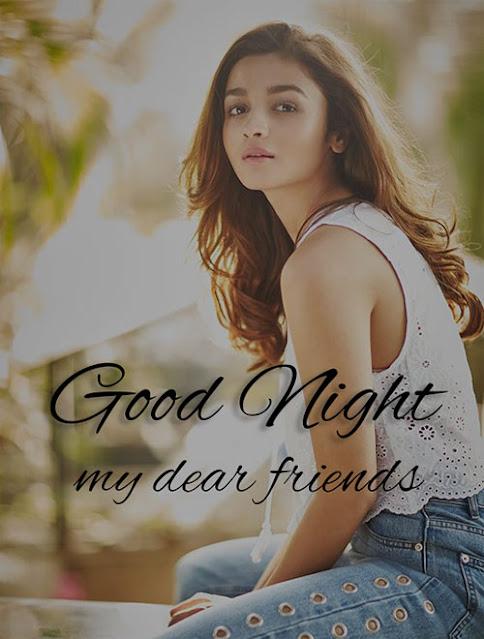 romantic good night wish image