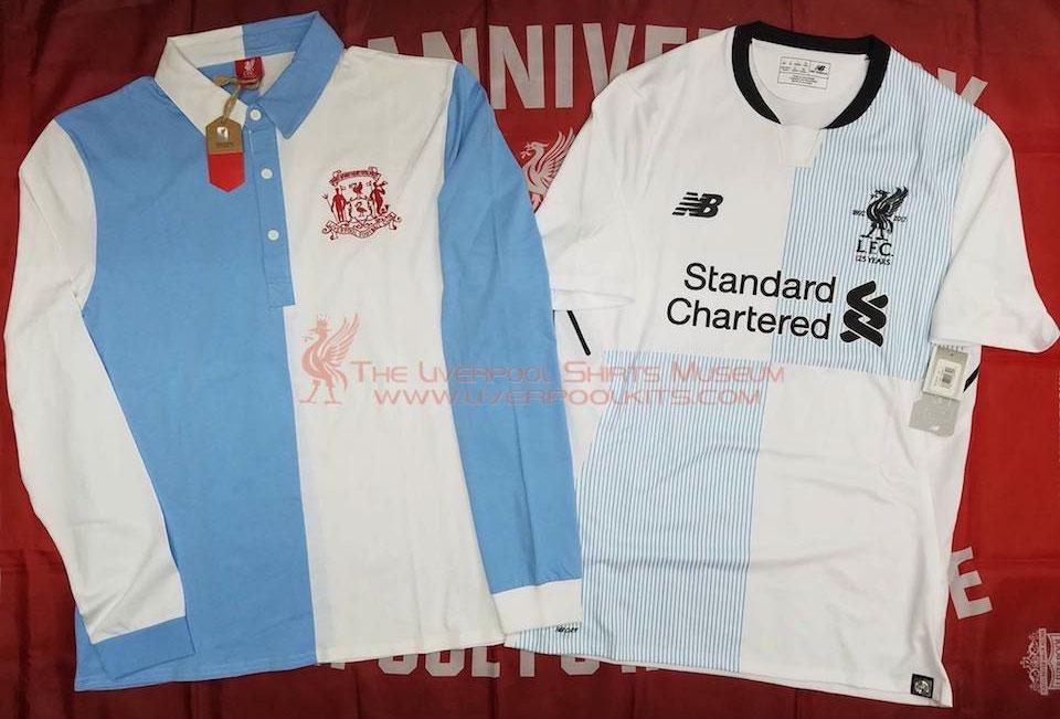 O Liverpool usava uma camisa branca e azul celeste nos primeiros anos do  clube (1892-1896). Eles mudaram para camisas vermelhas em 1896 (primeiro  combinados ... edd8b13c171ef