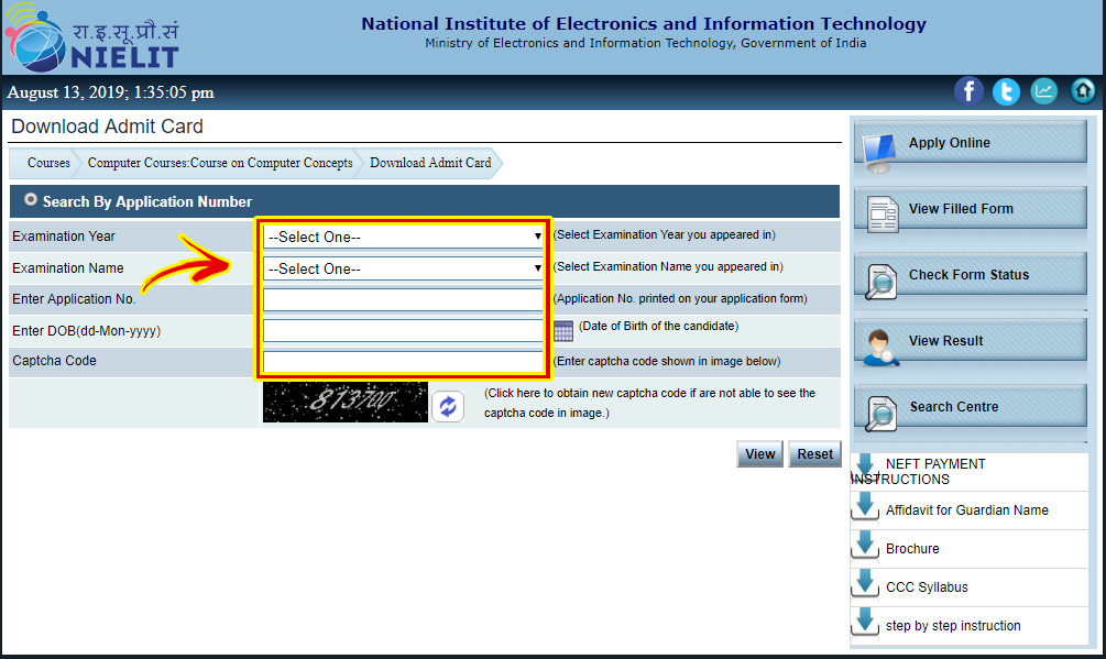 How to Download CCC Admit Card Step by Step (CCCOnlineTyari)