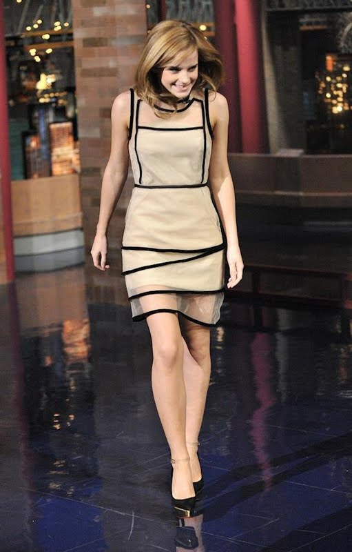 Red Carpet Dresses Emma Watson The Late Show With David