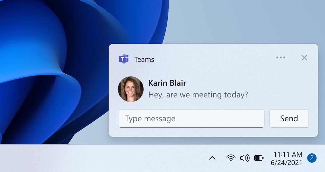Ecco la Chat integrata in Windows 11
