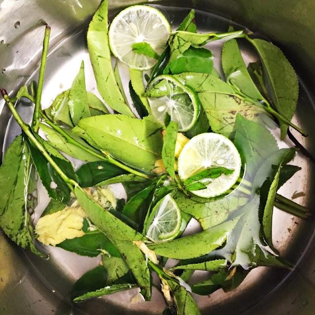 Khử mùi hắc nồng bằng lá chè xanh và chanh