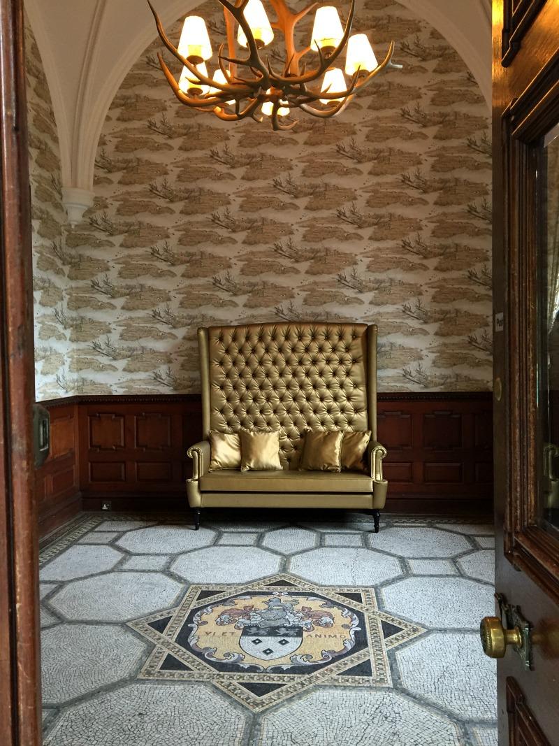 The gold chair at Ardoe House Aberdeen