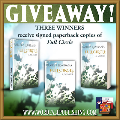 Full Circle tour giveaway graphic. Prizes to be awarded precede this image in the post text.