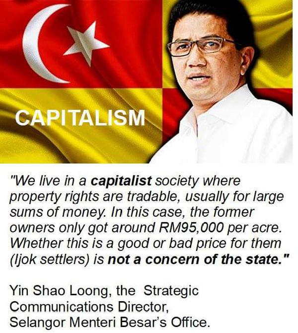 Skandal Tanah Ijok: Dalam Komonuti Kapitalis, soal pampasan bukan keperihatinan Kerajaan Negeri Selangor
