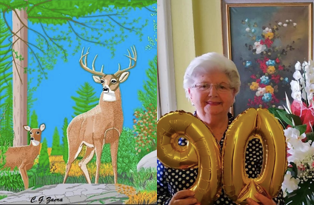 Amazing MS Paint Artist Grandma Turns 90
