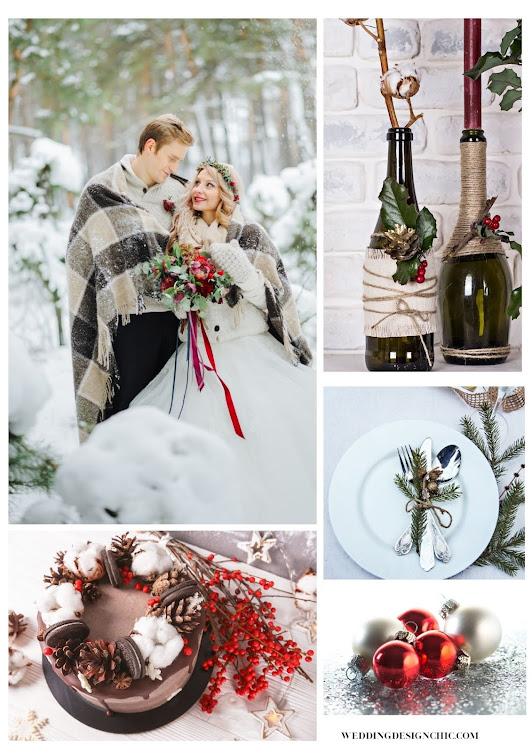 christmas wedding themes