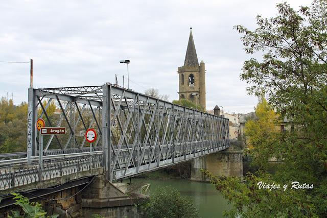 Puente metálico sobre el Río Aragón, Sangüesa
