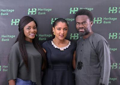 Photo News - Big Brother Naija's Housemate At Heritage Bank Head Office