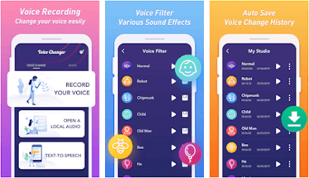 Aplikasi Funny Voice Changer & Sound Effects