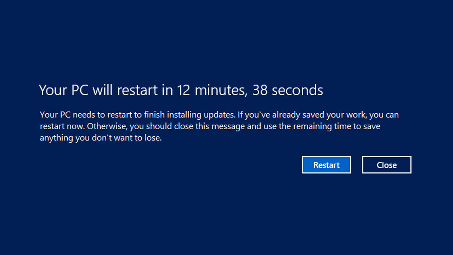 Why Do Computer Restart After Installing a New Software?