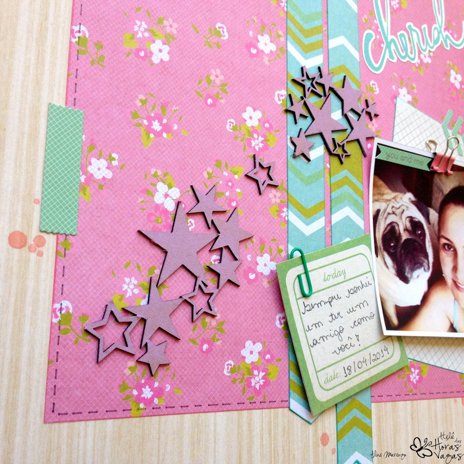 scrap scrapbooking lo cherish confetti kaiser craft