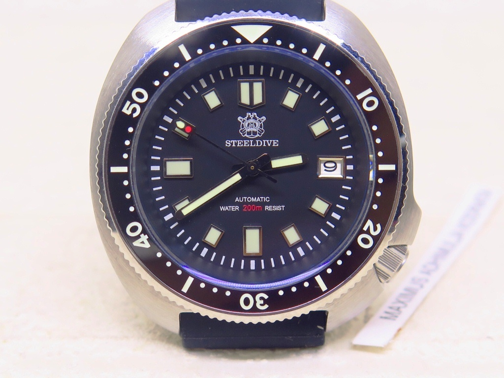 STEEL DIVE 200m 6015 MODEL CASE - AUTOMATIC NH35