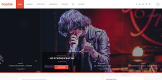Sophia Blogspot Theme 2019