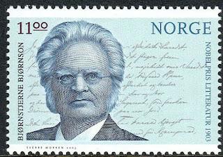 Norway Norwegian Nobel Laureates. Bjornson