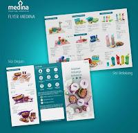 Dusdusan Flyer Produk Medina Paket 250 Lembar ANDHIMIND