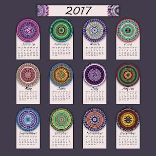 2017カレンダー無料テンプレート106