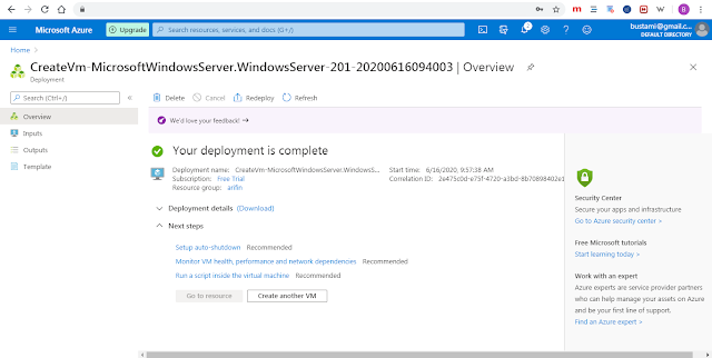 Cara Membuat Windows Virtual Machine di Microsoft Azure