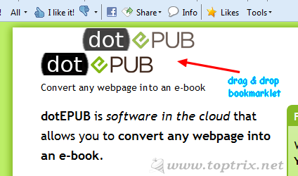 Convert & Save Web Pages to EPub & Mobi eBooks