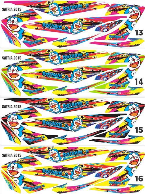 Strip Satria FU doraemon custom desain