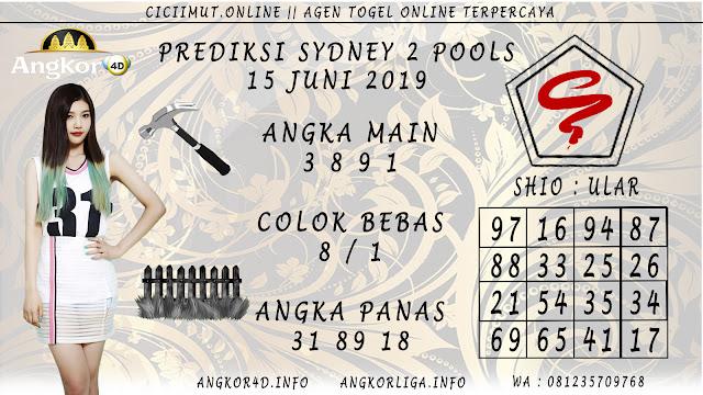 PREDIKSI SYDNEY 2 POOLS 15 JUNI 2019