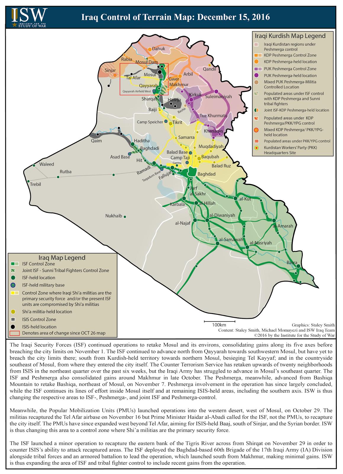 ISW Blog: Iraq Control of Terrain: December 15, 2016