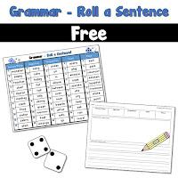FREE Grammar Roll a Sentences Game